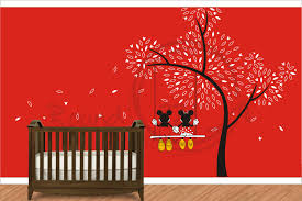 Minnie Mouse Bed Decor by Mickey Mouse Minnie Mouse Wall Decal Wall Vinyl For Children U0027s