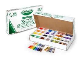 Crayola Bathtub Crayons 18 Vibrant Colors by Amazon Com Crayola Bulk Markers And Crayons 256 Count Classpack