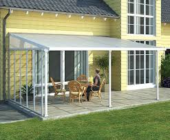 Palram Patio Cover Grey by Palram Feria Patio Cover 13x14 Clear Awnings Canada