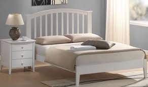 White Wooden Headboard Double by Awesome White Wooden Bed Frame In Frames Incredible Time Living