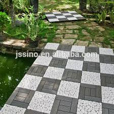 deck plastic base wood floor interlocking plastic decking tiles