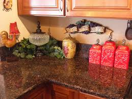 For The Vignette On Counter I Added A Rooster Urn From Kirklands Grape Canister Plaque And My Red Canisters