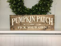 Caledonia Pumpkin Patch by Pumpkin Patch Sign Fall Decor Pumpkin Wood Sign Fall Decor