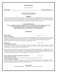 cover letter resume objective for executive assistant executive