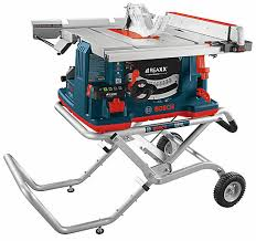 Wet Tile Saw Home Depot Canada by Bosch 10 Inch Reaxx Jobsite Table Saw With Gravity Rise Wheeled