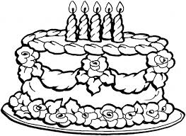 picture of a birthday cake to color