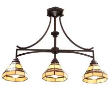 hton bay 3 light rubbed bronze kitchen island light