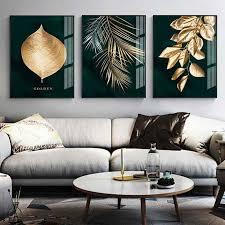 abstrakte goldene anlage blätter bild wand poster moderne stil leinwand druck malerei kunst wohnzimmer einzigartige dekoration