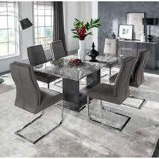 Stone Dining Table Marble Also Grey White Round Set 8 Luxury