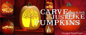 Pumpkin Masters Carving Kit Uk by Fun Kins U2013 Artificial Carvable Pumpkins