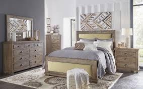 Willow Upholstered Bedroom Set Weathered Grey Progressive
