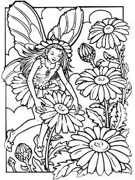 Amusing Fairy Coloring Pictures Print Pages Special Flower Book Design For Kids Unknown