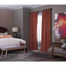Thermal Curtain Liner Grommet by Shop Allen Roth Winbourne 63 In Spice Polyester Grommet Room