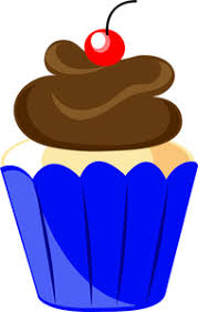 Blue Cupcakes Cliparts
