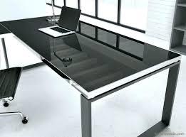 bureau en verre blanc plateau verre trempac bureau bureau en verre trempac noir plateau