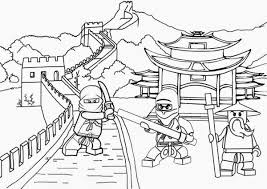 Ninjago Coloring Pages Printable Me Online
