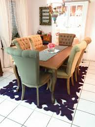 kare esszimmer tisch und stühle villa im vintage design