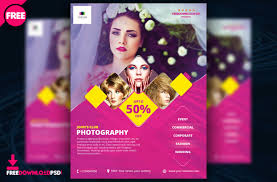 Photography Flyer Template Wording Word Psd Templates For