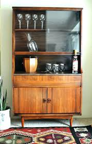 Hutch Bar Cabinet Fabulous Dry Gorgeous Vintage Caned