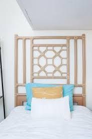hollywood regency chinoiserie faux bamboo headboard bamboo