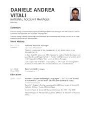 National Account Manager Resume Samples