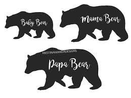 Papa Bear Mama Baby SVG Cut By KristinAmandaDesigns