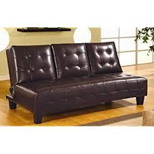 amazon com coaster sofa bed dark brown kitchen dining