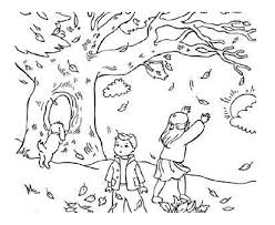 Coloring Page Fall Season Nature 2
