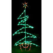 Queens Of Christmas Zig Zag Tree LED Light Decoration