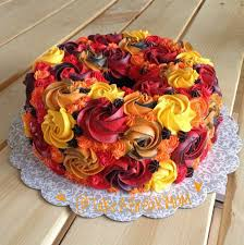 Pumpkin Festival Ohio Confetti by Beautiful Fall Colors Cake Fall Leaves Colors Thanksgiving Cake