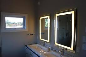 led lighted makeup wall mount 7x magnifying bathroom mirror inside