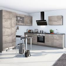 winkelküche base b12 inkl e geräte 290 x 300 cm express küchen beton hell