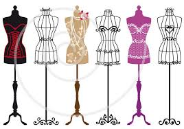 Buy Vintage Fashion Mannequins Vector Set By Amourfou On GraphicRiver Of Dress Forms Illustration AI EPS 8 And High Resolution