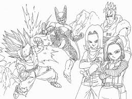 Dragon Ball Af Coloring Pages 18 Z Book Pdf