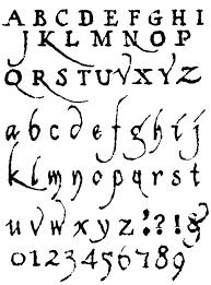 Different Font Styles Alphabet