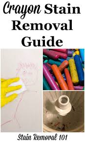 How To Fix Bleach Stains On Carpet by Crayon Stain Removal Guide For Clothing Upholstery Carpet U0026 More