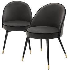 casa padrino luxus esszimmerstuhl set dunkelgrau schwarz messing 55 x 64 x h 83 cm esszimmermöbel luxus kollektion