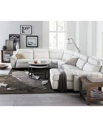 Julius 6 pc Leather Sectional Sofa with 2 Power Recliners Created