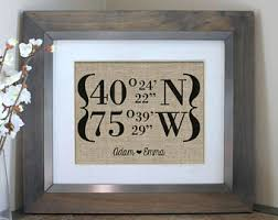 New Home Housewarming Gift Our First House Warming Latitude Longitude Sign