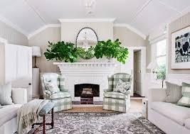 wohnzimmer im cottage stil mit karierten bild kaufen