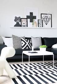 White And Gray Striped Curtains by How To Enhance A Décor With A Black And White Striped Rug