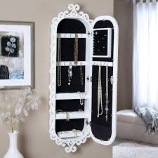 Wall Mounted Jewelry Cabinet Mirror Armoire With Gloss White ... Interior Jewelry Armoire Mirror Faedaworkscom Southern Enterprises 4814 In X 1412 Frosty White Wall Belham Living Large Standing Mirror Locking Cheval Armoire On The Wall Jewelry Abolishrmcom Bedroom Magnificent Closet Mounted Glass Sei Photo Display Mount With Over Door Amazoncom Kitchen Ding Compact 139 Have To Have It Lighted Quatrefoil