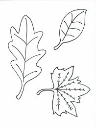 Free Printable Coloring Page Leaves