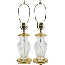 Waterford Lamp Shades Table Lamps by Pair Vintage Waterford Crystal Lamps Sold On Ruby Lane