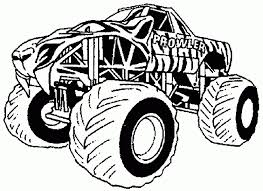 Free Printable Monster Truck Coloring Pages For Kids With Cars And Trucks