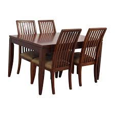 Macys Outdoor Dining Sets by 58 Off Macy U0027s Macy U0027s Wood Dining Set With Extendable Leaf And