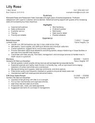 Example Of Retail Resume Sample Customer Service Beautiful Idea Sales Assistant Manager