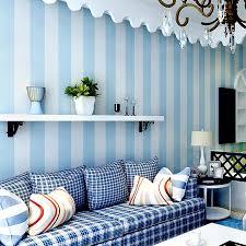moderne schlafzimmer blau und weiß vertikale streifen tapeten vlies kinderzimmer tapeten für wände junge wohnzimmer tapete