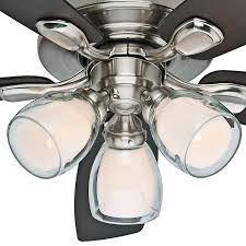 Brushed Nickel Ceiling Fan Amazon by Hunter Fan 52