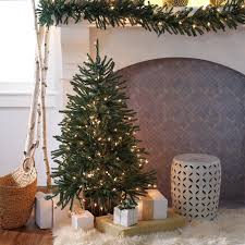 Pre Lit Slim Christmas Tree Led by Sierra Flocked Slim Pre Lit Led Christmas Tree Hayneedle